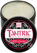 Tantric Massage Candle With Pheromones White Lavender