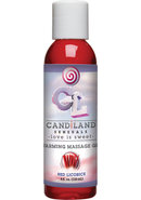 Candiland Sensuals Flavored Warming Massage Gel Red...