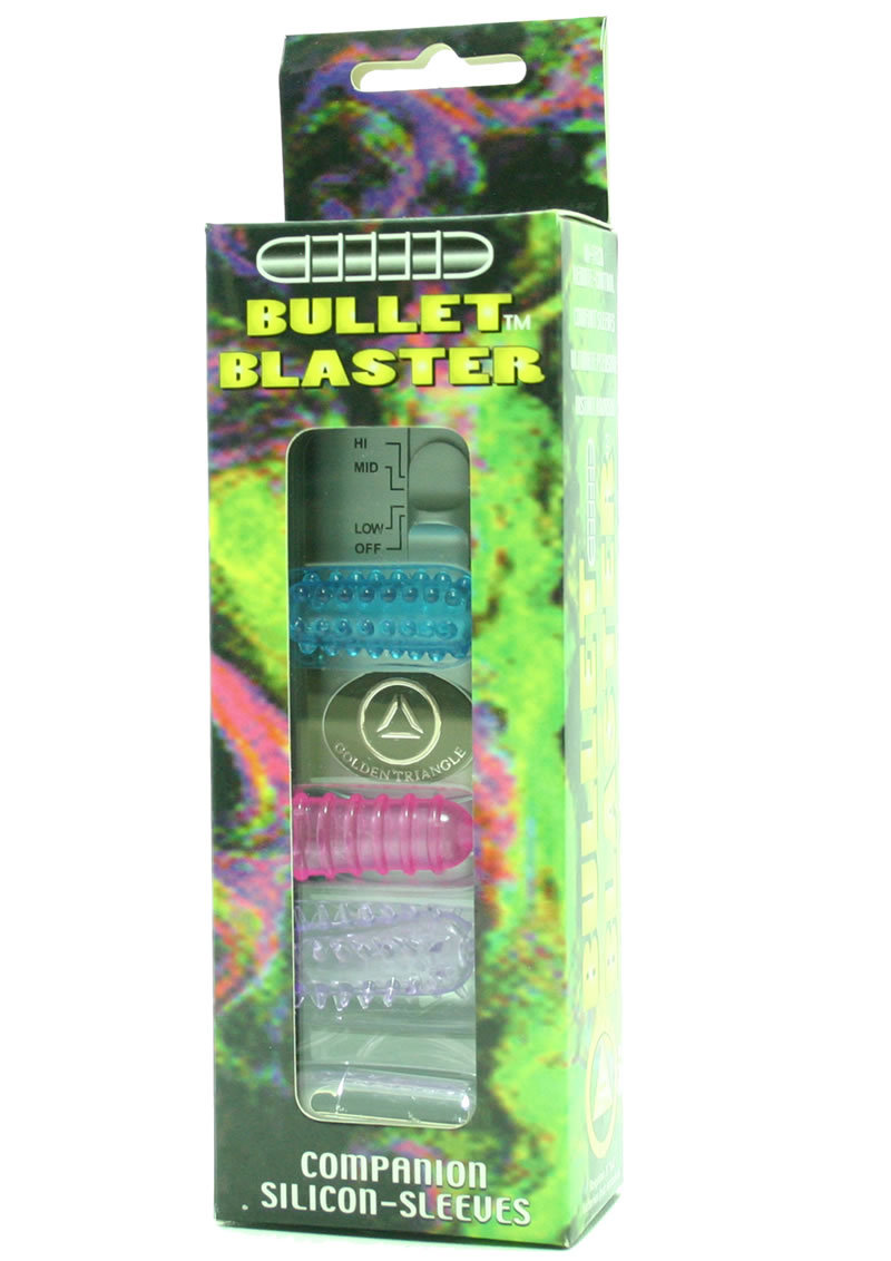 Bullet Blaster With Remote And 4 Assorted Colored Silicone Sleeves